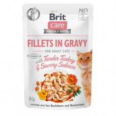 Brit Care Cat pouch 85g adult turkey and salmon